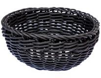 Koš kruhový polypropylen/plast 20cm černý 1ks