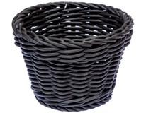 Koš kruhový polypropylen/plast 13cm černý 1ks