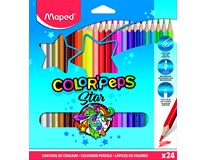 Pastelky trojboké Maped Color'Peps 24barev 1ks