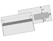 Obálka DL s okénkem samolepící Sigma 100ks