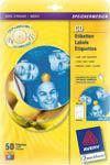 Etikety CD/DVD 117mm bílé sp 50/25 listů 1ks