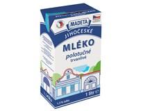 Madeta Jihočeské mléko trvanlivé polotučné 1,5% chlaz. 12x1L