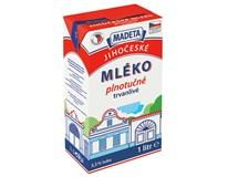 Madeta Jihočeské mléko trvanlivé plnotučné 3,5% chlaz. 12x1L