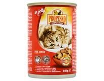 Propesko Konzerva pro kočky hovězí maso s játry 6x415g