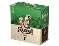 Velkopopovický Kozel 11° světlý ležák pivo 8x500ml multipack vratná láhev