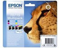 Sada inkoustových náplní Cartridge Epson T0715 CMY multipack 4ks