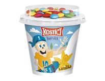 Danone Kostíci Barvíci Jogurt vanilkový a dražé z mléčné čokolády chlaz. 10x109g