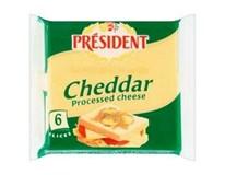 Président Cheddar sýr tavený plátky chlaz. 4x120g