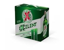 Excelent světlý ležák 11° pivo 8x500ml vratná láhev