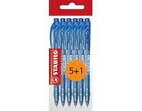 Pero kuličkové Stabilo liner 308 modré 5+1ks