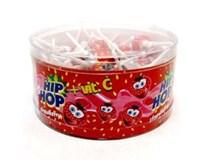 Hip Hop lízátka jahodová 50x8g