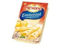 Président Emmental sýr plátky chlaz. 3x100g