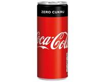Coca-Cola Zero 24x250ml plech