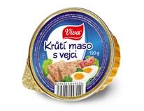 Viva Krůtí maso s vejci 16x120g