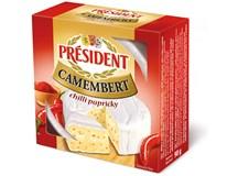 Président Camembert sýr s chilli chlaz. 5x90g