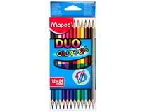 Pastelky trojboké Maped Color'Peps duo 12=24 barev 1bal.
