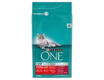 Purina One Sterilcat hovězí maso+pšenice granule pro kočky 1x1,5kg