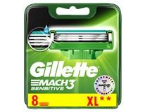 Gillette Mach3 Sensitive náhradní hlavice 1x8ks