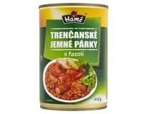 Hamé Trenčanské jemné párky s fazolí hotové jídlo 4x410g