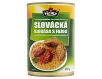 Hamé Slovácká klobása s fazolí hotové jídlo 4x400g