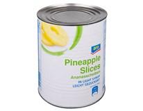ARO Ananas plátky v mírně sladkém nálevu 1x3100ml