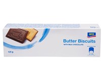 ARO Butter Biscuits Máslové sušenky s mléčnou čokoládou 1x125g