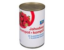 ARO Kompot jahodový ve sladkém nálevu 8x425ml