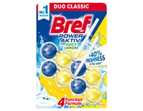 Bref WC Power Aktiv blok juicy lemon 2x50g