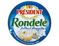 Président Rondelé Nezrající sýr se sýrem s modrou plísní chlaz. 3x100g