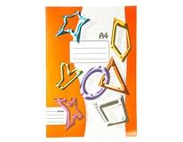 Sešit školní 444 linkovaný A4 40listů 1ks