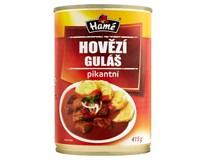 Hamé Hovězí guláš pikant hotové jídlo 4x415g