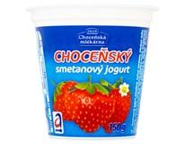 Choceňský Jogurt smetanový jahoda chlaz. 10x150g