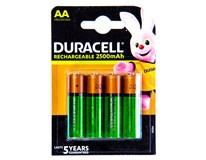 Baterie nabíjecí Duracell 2500 AA 4ks