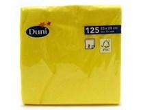 Duni Ubrousky 33cm 2-vrstvé žluté 1x125ks