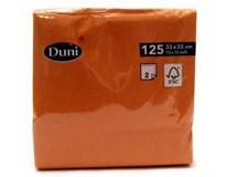 Duni Ubrousky 33cm 2-vrstvé mandarinka 1x125ks