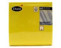 Duni Soft Ubrousky 40x40cm žluté 1x60ks