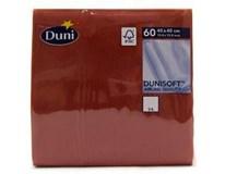 Duni Soft Ubrousky 40x40cm bordó 1x60ks