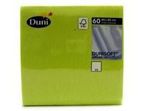 Duni Soft Ubrousky 40x40cm kiwi 1x60ks
