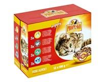 Propesko Kapsa kuře/krůta/losos pro kočky 12x100g