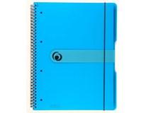 Blok spirálový Herlitz A4/80L čtverečkovaný transparentní modrý 1ks