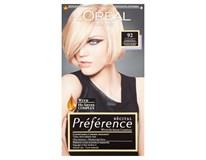 L'Oréal Préférence č.92 barva na vlasy velmi světlá blond 1x1ks