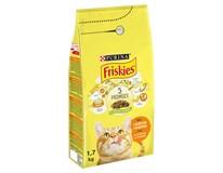 Purina Friskies kuře+zelenina granule pro kočky 1x1,7kg