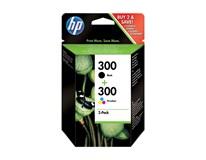 Cartridge HP 300 combo černá+barvy 1ks