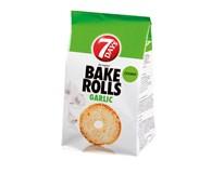 7Days Bake Rolls Křupavé chipsy s příchutí česneku 14x80g