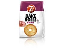7Days Bake Rolls Křupavé chipsy s příchutí slaniny 14x80g