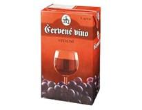 Víno červené 12x1L tetrapack