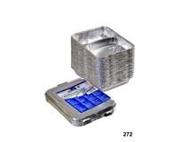Miska s víčkem Horeca Select 2-dílná 830ml hliník 50ks