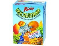 Ricky multivitamin 12% nápoj 10x200ml