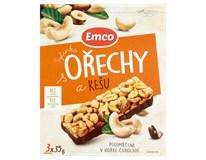 Emco Tyčinka ořechy/kešu 3x35g