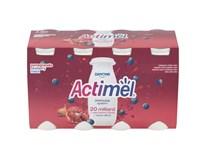 Danone Actimel jogurtový nápoj granátové jablko/borůvka vitamin C chlaz. 8x100g